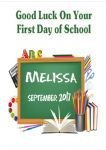 First Day at School Card Design 1